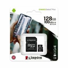 Kingston 128GB Class10 microSD SDXC Flash Memory Card U1 A1 100MBs SDCS2/128GB