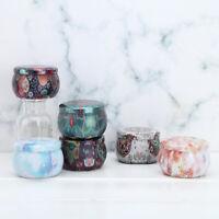 6Pcs Vintage Tin Jars Coffee Tea Spice Candy Jewelry Storage Case Candle Box