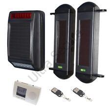 Inalámbrico Alarma Perimetral con Solar Sirena & Interior receptor inalámbrico