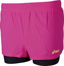 Asics 2 In 1 Womens Running Shorts - Pink