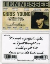 Chris Young Murfreesboro Tennessee Tn Drivers License fake id i.d. card