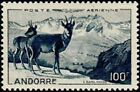 """ANDORRE FRANCAIS STAMP TIMBRE AERIEN N° 1 """" PAYSAGE , ISARDS 100F """" NEUF xx TTB"""