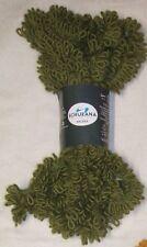 Balaika Schulana 3 x 50 g Wolle Alpaka Pelzwolle Pelzoptik Pelzbändchen grün 13
