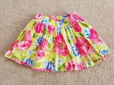 Hollister Womens Juniors Pink/Green/Blue Floral Skirt, Size Small