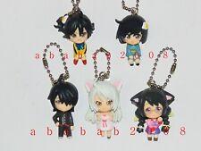 Bandai Nekomonogatari figure keychain gashapon ( full set of 5 figures )