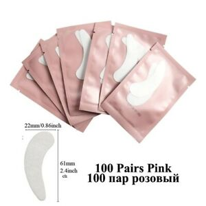 100pairs Eyelash Extension Paper Patches Grafted Eye Stickers Under Eye Pad Tips