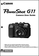 Canon Powershot G11 Digital Camera User Guide Instruction Manual