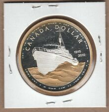 2010 Gold Plated Canada Silver Dollar from Proof Set Pure Silver Non Taxable