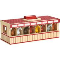 9 Piece Stable Horse Playset
