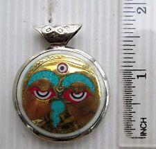 Tibet Tibetan Buddhist Amulet Om Mani Padme Hum & Buddha Eyes