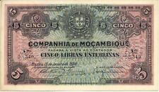 MOZAMBIQUE (COMPANHIA DE MOÇAMBIQUE) PORTUGAL 5 LIBRAS ESTERLINAS 15/01/1934