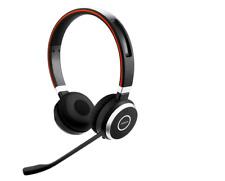 Jabra Evolve 65 UC BT Wireless Headset, Stereo, Link 370 USB & ALL DAY BATTERY