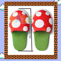 """Game Super Mario Cannibal Flower Cute Indoor Slippers 11"""" Soft Warm Plush Shoes"""