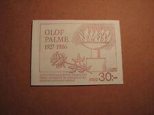 Sweden Booklet Scott# 1602A Olof Palme 1986 Mint L2