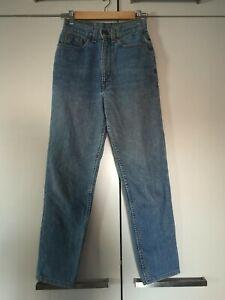 Levi's Stonewash Blue High-waisted Ankle Crop Mum Style Vintage Jeans