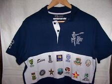 "2015 ICC Cricket World Cup polo shirt sz M 44"" England Scotland New Zealand etc!"