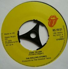 """ROLLING STONES - Fool To Cry - Excellent Condition 7"""" Single RS 19121"""