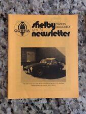 Shelby Cobra Owners Association Newsletter June 1974 New MINT Rare