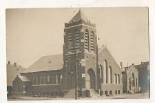 RPPC Former Lutheran Church, ELIZABETH NJ New Jersey Real Photo Postcard