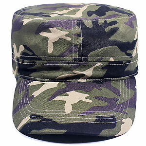 EURO ADULTS CAMOUFLAGE CAMO CAP HAT HUNTING GEOCACHING ARMY HAT - 100% COTTON