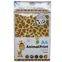 20 Animal Print Card A4 Shapes Sheet Kids Children Creative Art Craft Jungle Fun