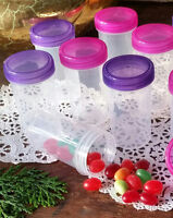 6 Pill Bottle Doc Party Colors Favor Candy Jars Container #3814 DecoJars USA
