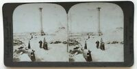 Egitto Colonna Da Pompeo Alessandria Foto Stereo Stereoview N° L9 Vintage