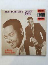 Billy Eckstine & Quincy Jones : At Basin Street East UK 1st NM Vinyl LP-SFL13039