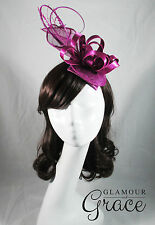 Annabelle purple fascinator headpiece hat wedding races Melbourne Cup Derby Day