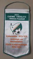 *RAR* Orig. Wimpel BSG Chemie Tröglitz DDR Fussball DDR Bezirksklasse TSV Zeitz