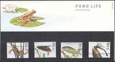 GB 2001 EUROPA/Pond vita/Rana/BEETLE/Dragonfly/PESCE/NATURA 4 V PRES Pack (n42022)