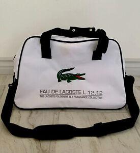 EAU DE LACOSTE L.12.12 Alligator Men's Duffle Bag Gym Yoga White Travel Bag.NEW