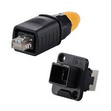 RJ45 Plug & Socket Connector Waterproof IP67 Plastic Easy Locking