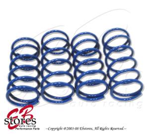 Front and Rear 4pcs Suspension Lowering Spring Blue Mitsubishi Lancer 2007-2011