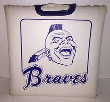 Vintage Atlanta Braves Baseball Seat Cushion - Chief Noc-A-Homa Indian Logo RARE