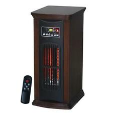 1500-Watt 3-Element Tower Infrared Electric Portable Heater with Remote Control
