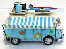 Vintage Tin Volkswagon VW Blue Photo Frame Money Box COMBI Kombi Campervan