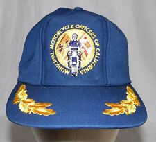 Vintage Municipal Motorcycle Officers Of California Police Snapback Hat Cap