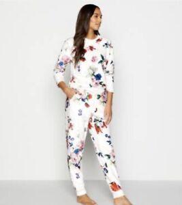Ted Baker Ivory Floral Print Sandalwood Fleece Twosie Set Nightwear Pyjama 8