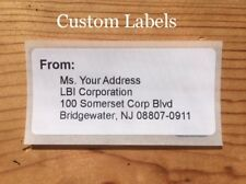 100 Shipping Label Stickers CUSTOM with YOUR ADDRESS envelope/package