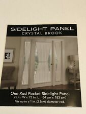 NIP Embroidered Sidelight Panel Harlequin Diamond Pattern Off-White