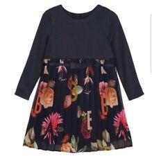 Baker by Ted Baker-Girls' Navy Floral Print Dress.18-24 Months.