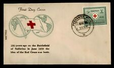 DR WHO 1959 PAKISTAN RED CROSS FDC C170444