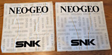 Neo Geo Arcade Game Side Decals From SNK 2 Slot Kit