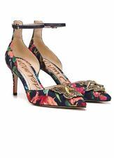 NWOB Sam Edelman Floral Print Tabby Pump Evil Eye Bird Embellished Shoes 8