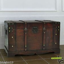 Wooden Vintage Large Storage Box Chest Trunk Home Furniture Box Table Treasure