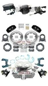 1966-75 Ford Bronco Front Rear Disc Brake Kit Wilwood Front Calipers Booster Kit