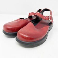Dansko Red Leather Mary Jane Platform Sandals EU 41 US 10.5-11 Closed Toe