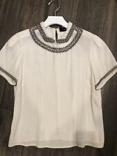 isabel marant beaded collar top size 38