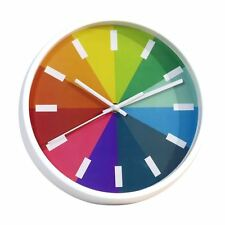 Modern Novelty Rainbow Wall Clock with White & Black Digits